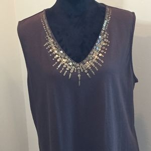Dana Buchman Tops - Charming Sequence Brown Sleeveless blouse